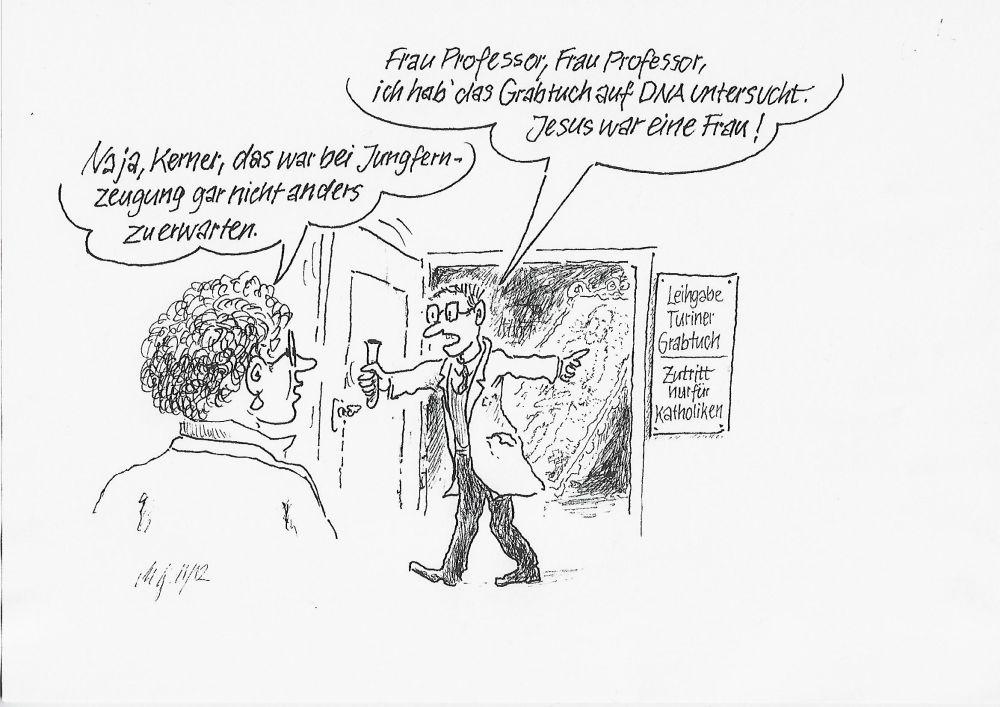 Karikatur Jesu Outing