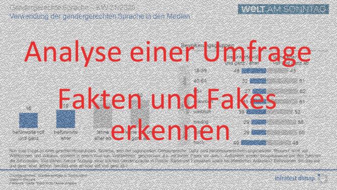 Analyse einer Umfrage - Fakten und Fakes erkennen